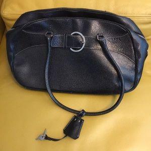 Prada handbag black with lock and key